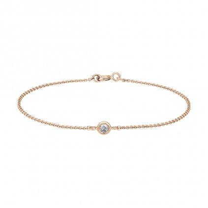 Řetízkový náramek Sweetie Grandi z růžového zlata s diamantem