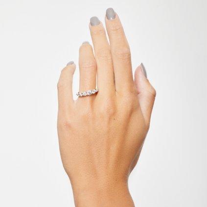 Prsten z bílého zlata s lab-grown diamanty Pure Line 5