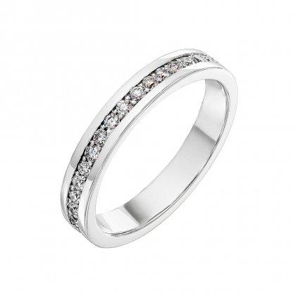 Zásnubní prsten z bílého zlata s lab-grown diamanty Patience