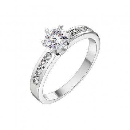Prsten z bílého zlata s diamanty Stella Maris