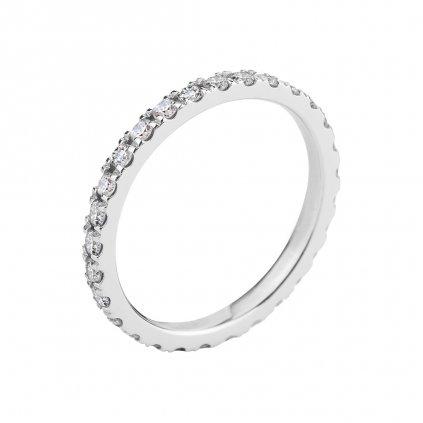 Prsten z bílého zlata s diamanty Gemma