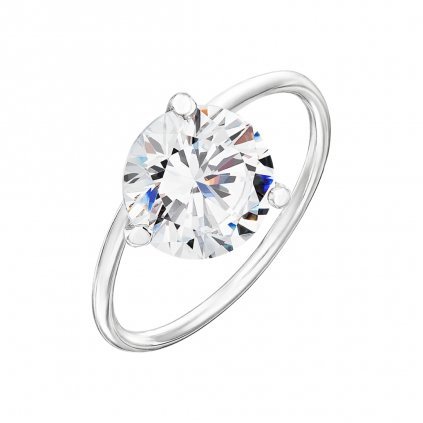 Prsten z bílého zlata s diamantem Shining Star IV.