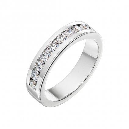 Prsten z bílého zlata s diamanty Isabel