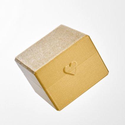 Dárková krabička z recyklovatelného plastu Tiami, zlatá