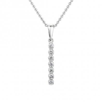 Přívěsek z bílého zlata s lab-grown diamanty Brilliant