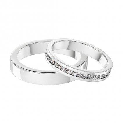 Snubní prstenyzbílého zlataslab-growndiamantyElegance
