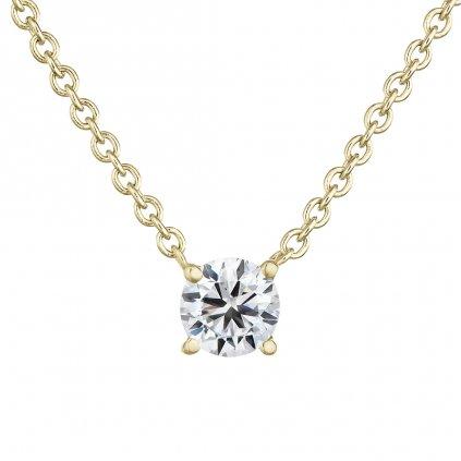 Přívěsek ze žlutého zlata s lab-grown diamanty Magic Cube I.