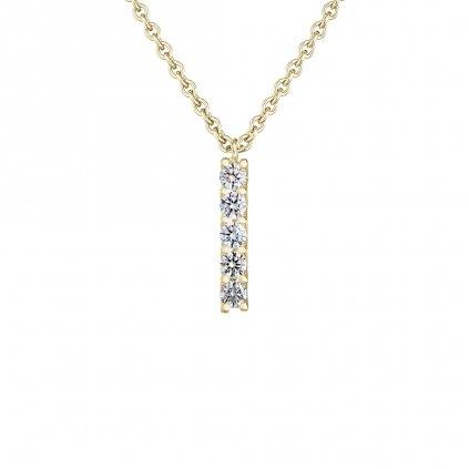 Přívěsek zežlutého zlata sdiamanty Pure Line 5