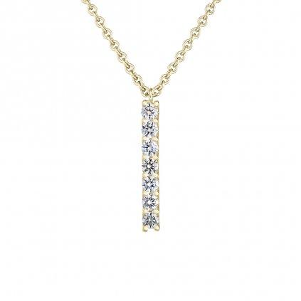 Přívěsek zežlutého zlata slab-grown diamanty Pure Line 7