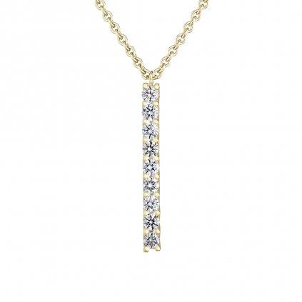 Přívěsek zežlutého zlata sdiamanty Pure Line 9