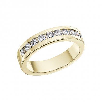 Prsten zežlutého zlata slab-grown diamanty Isabel I.