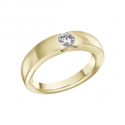 Prsten ze žlutého zlata s lab-grown diamantem Levitation