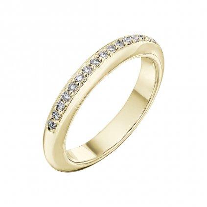 Prsten zežlutého zlata slab-grown diamanty Maggie