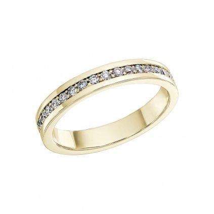 Prsten ze žlutého zlata s lab-grown diamanty Patience