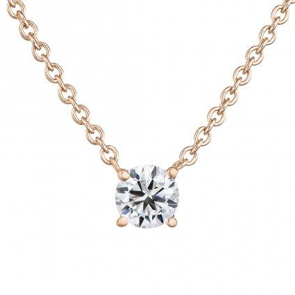 Přívěsek z růžového zlata s lab-grown diamanty Magic Cube I.