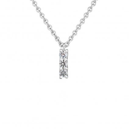 Přívěsek zbílého zlata sdiamanty Pure Line 3