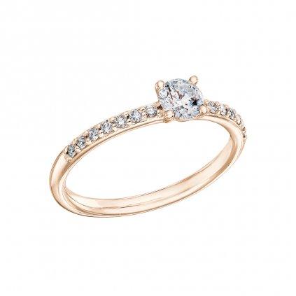 Zásnubní prsten z růžového zlata s lab-grown diamanty Princess