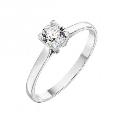 Prsten z bílého zlata s diamantem Grace