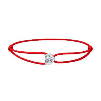 Provázkový náramek Pure Love zbílého zlata s lab-grown diamantem