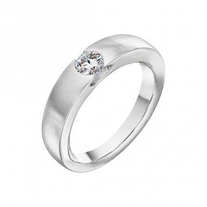 Prsten z bílého zlata s diamantem Levitation