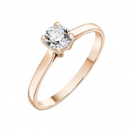 Prsten z růžového zlata s diamantem Grace