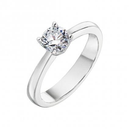 Prsten z bílého zlata s diamantem Pure Line One