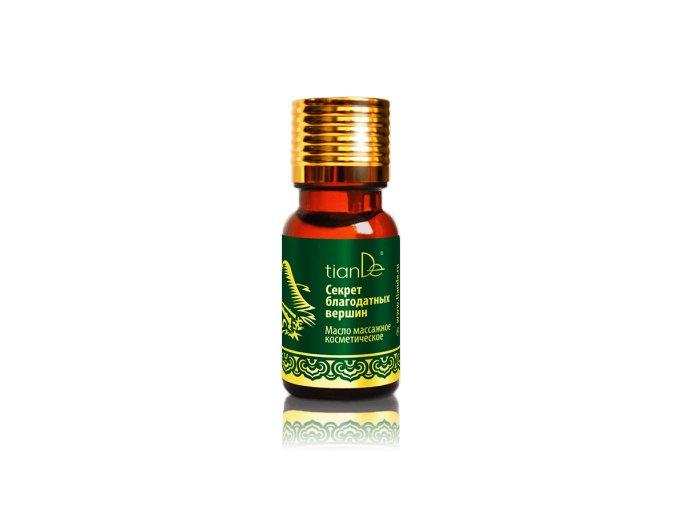 """Kosmetický masážní olej """"Tajemství blahodárných vrcholů"""""""