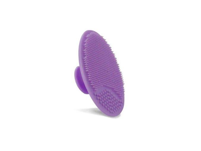 Houba na mytí a masáž obličeje - fialová barva