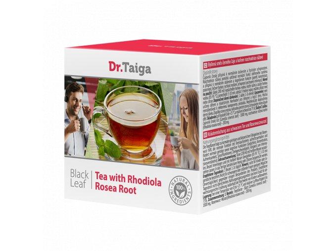 Bylinná směs černého čaje a kořene rozchodnice růžové (doplněk stravy)