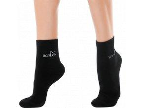 Bavlněné ponožky s bodovou aplikací turmalínu
