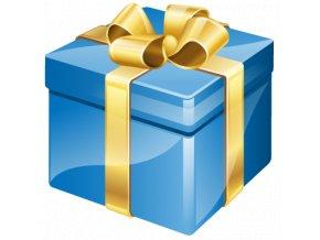 dárek modrý