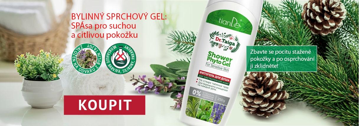 Bylinný sprchový gel pro citlivou pleť