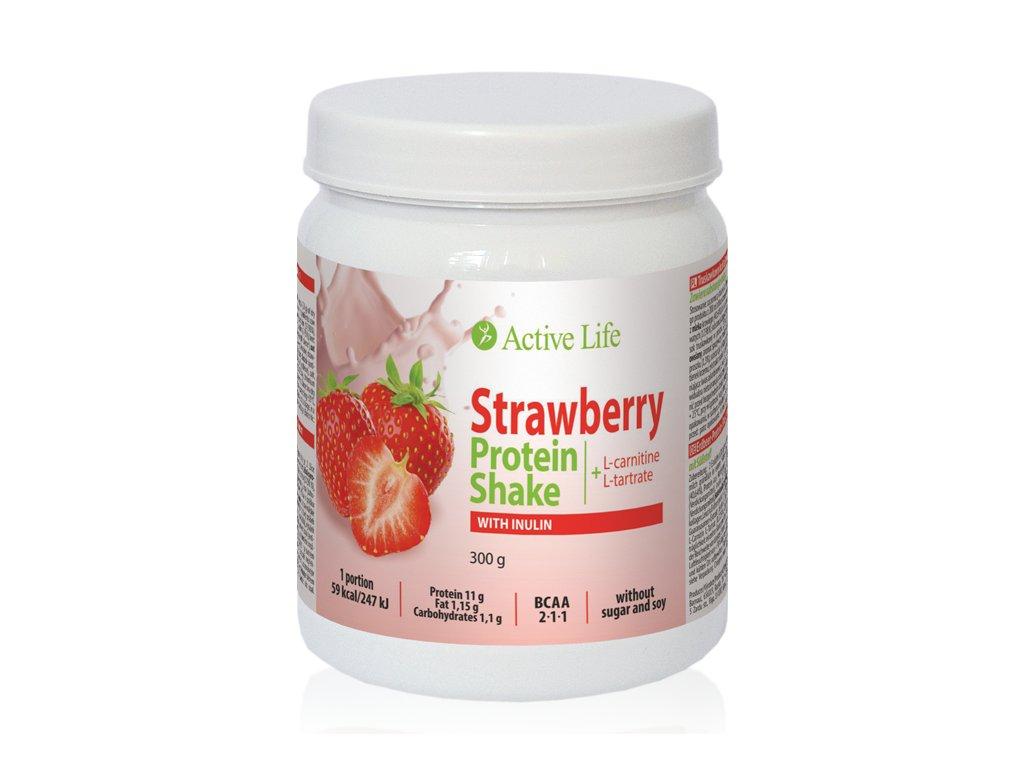 Jahodový proteinový koktejl s inulinem  (Body: 19,50)