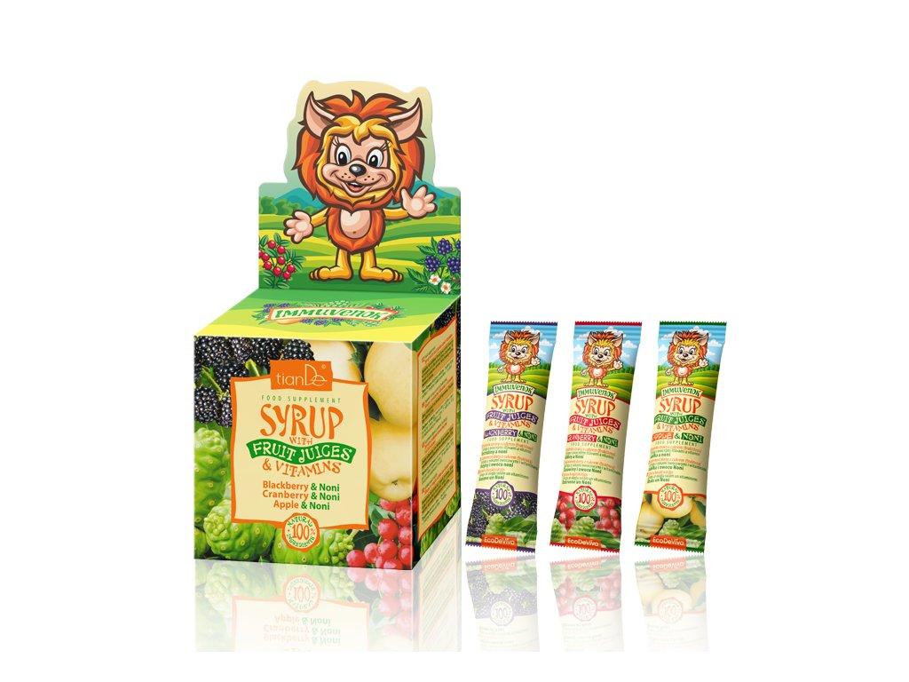 Sirupy s ovocnými šťávami a vitamíny  (Body: 6,00)