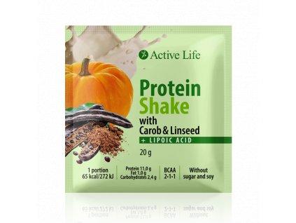 Proteinový koktejl s karobem a lněným semínkem  (Body: 2,00)