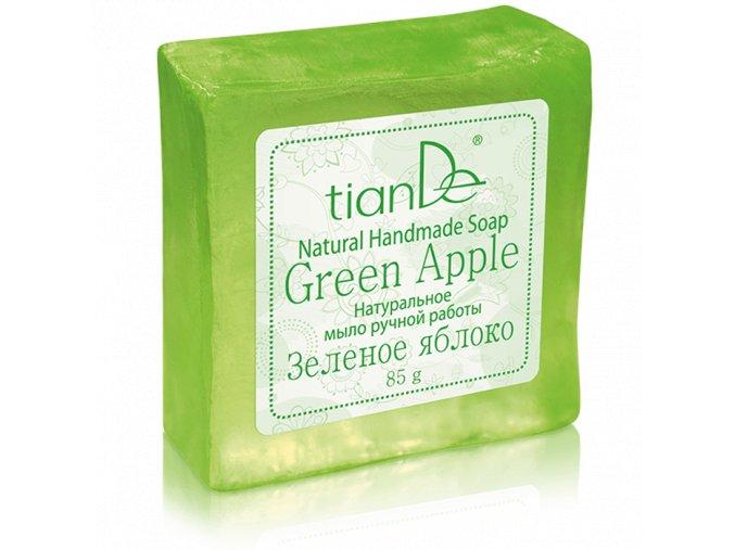 """Přírodní ručně vyrobené mýdlo """"Zelené jablko""""  (Body: 1,40)"""