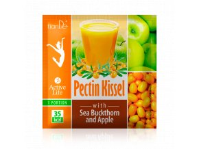 Pektinový kysel s rakytníkem a jablkem (s cukrem a sladidlem)  (Body: 1,00)