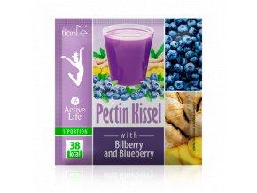 Pektinový kysel s vlochyní a borůvkou (s cukrem a sladidlem)  (Body: 1,00)