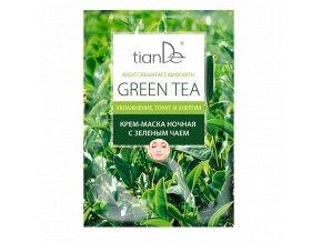 """Krémová maska na obličej """"Zelený čaj""""  (Body: 1,20)"""