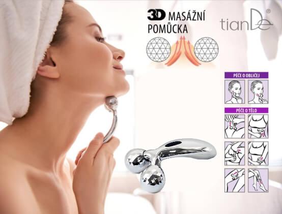 3D masážní pomůcka pro lifting pokožky obličeje a těla (video)