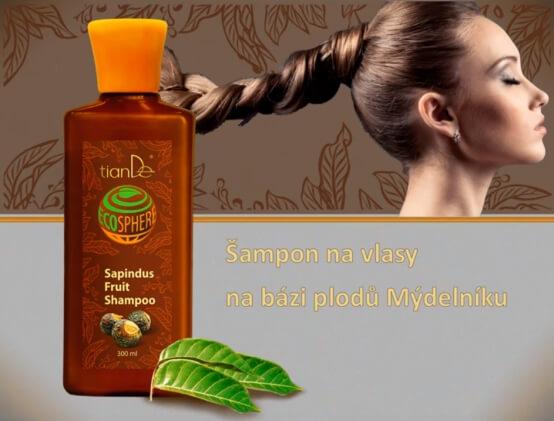 Šampon na bázy plodů Mýdelníku (video)