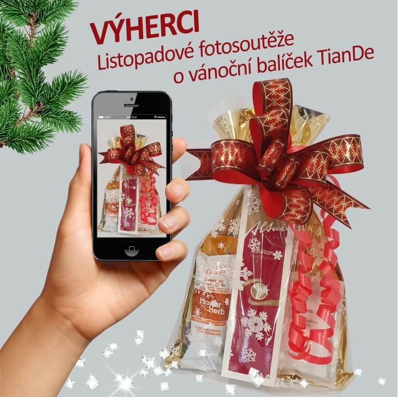 VÝHERCI Listopadové fotosoutěže o vánoční balíček TianDe