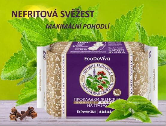 Dámské bylinné vložky noční Maxi, 4ks EcoDeViva (Prezentace)