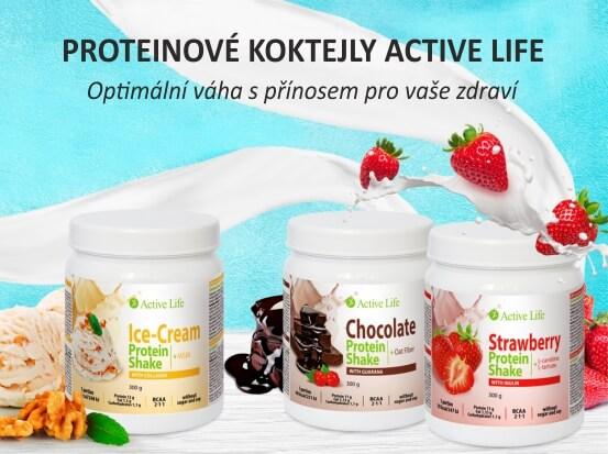 Proteinové koktejly Active Life (Prezentace)