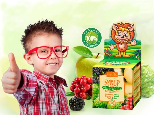 Sirup s ovocnými šťávami a vitamíny pro děti (video)