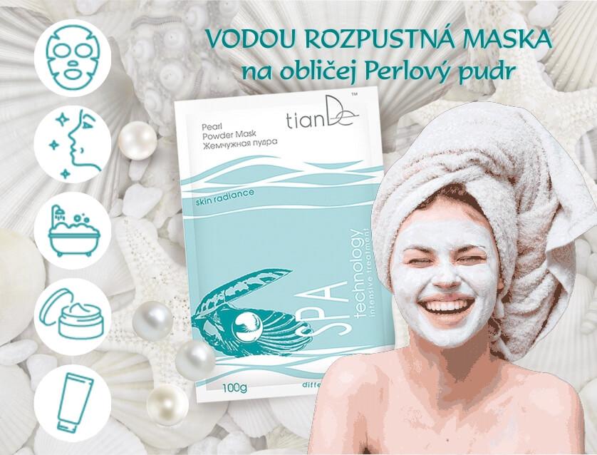 Maska na obličej Perlový pudr 100 g (video)
