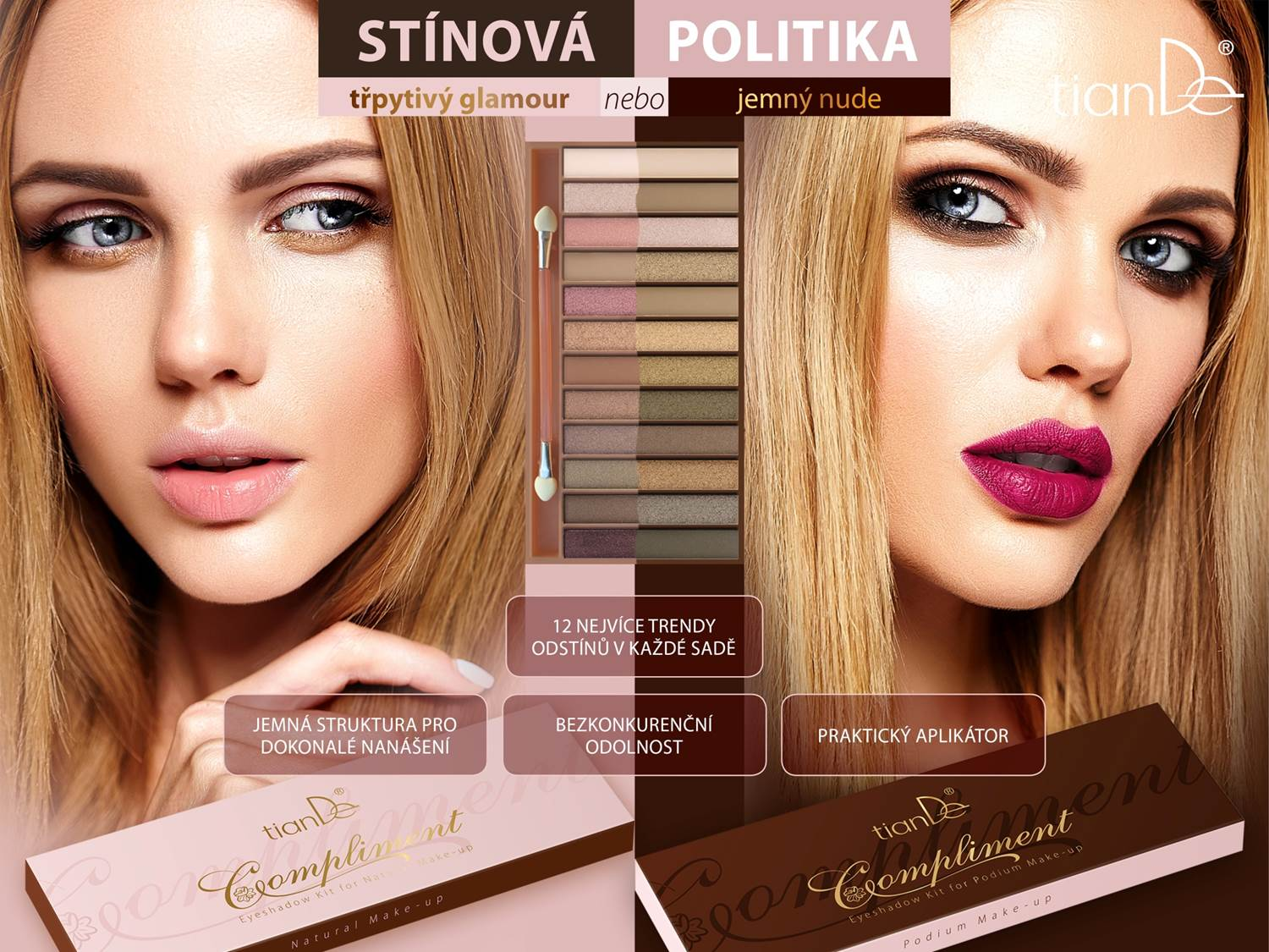 Eyeshadow Kit for Podium and Natural Make-up