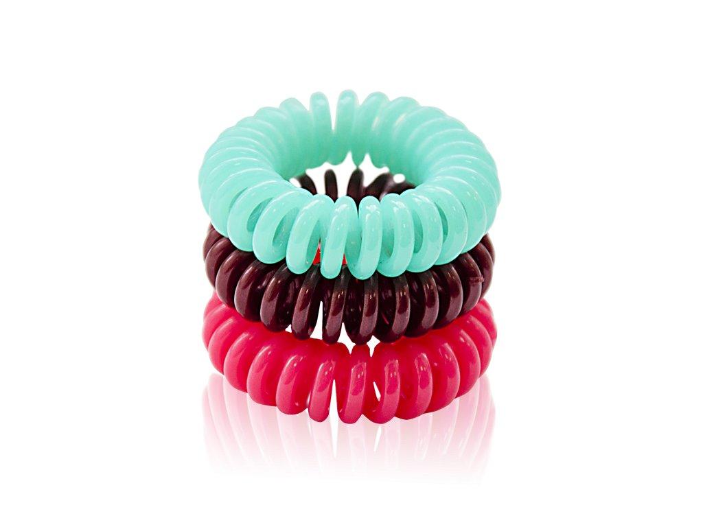 Spirálové gumičky do vlasů 3ks  Body: 2,0