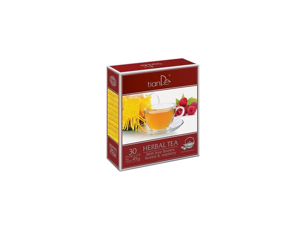 Bylinná směs s lípou, lékořicí a malinou 30 čaj. sáčků  Body: 6,6