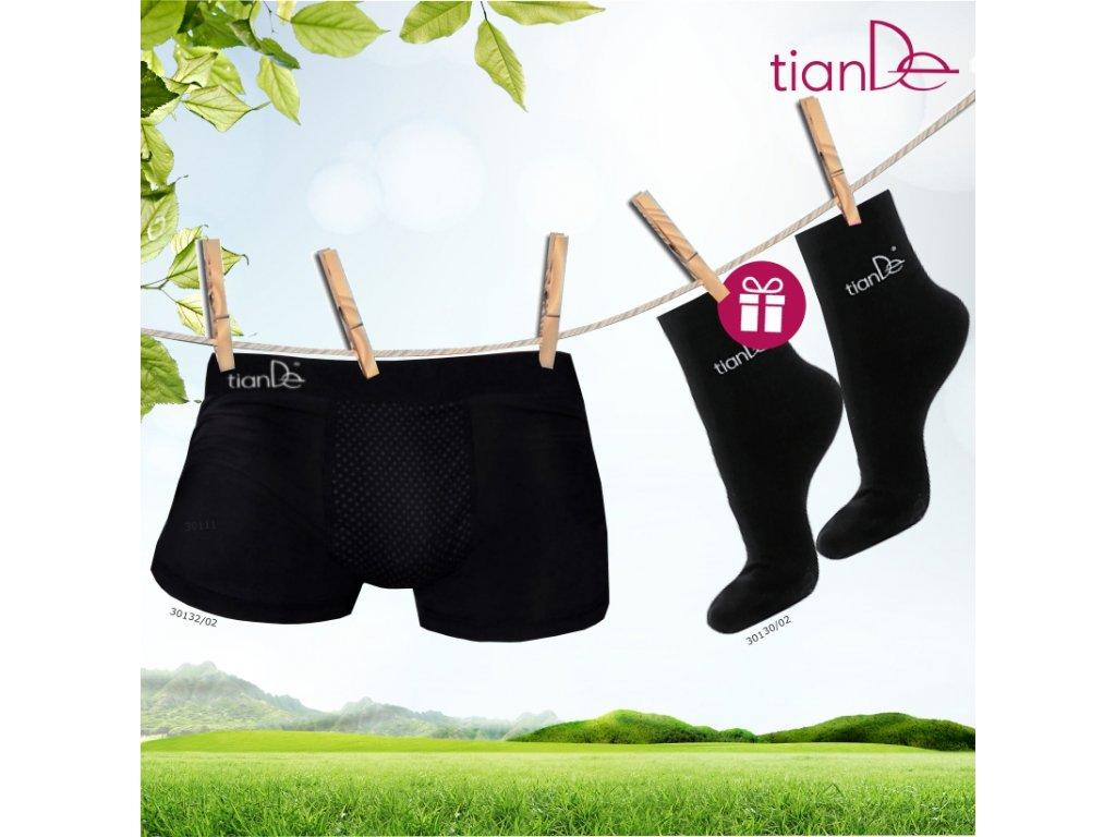 AKCE Pánské spodní prádlo s bodovým turmalínem 1ks, vel. 54 + DÁREK Ponožky s bodovou turmalínovou vrstvou 1 pár vel. 22 cm